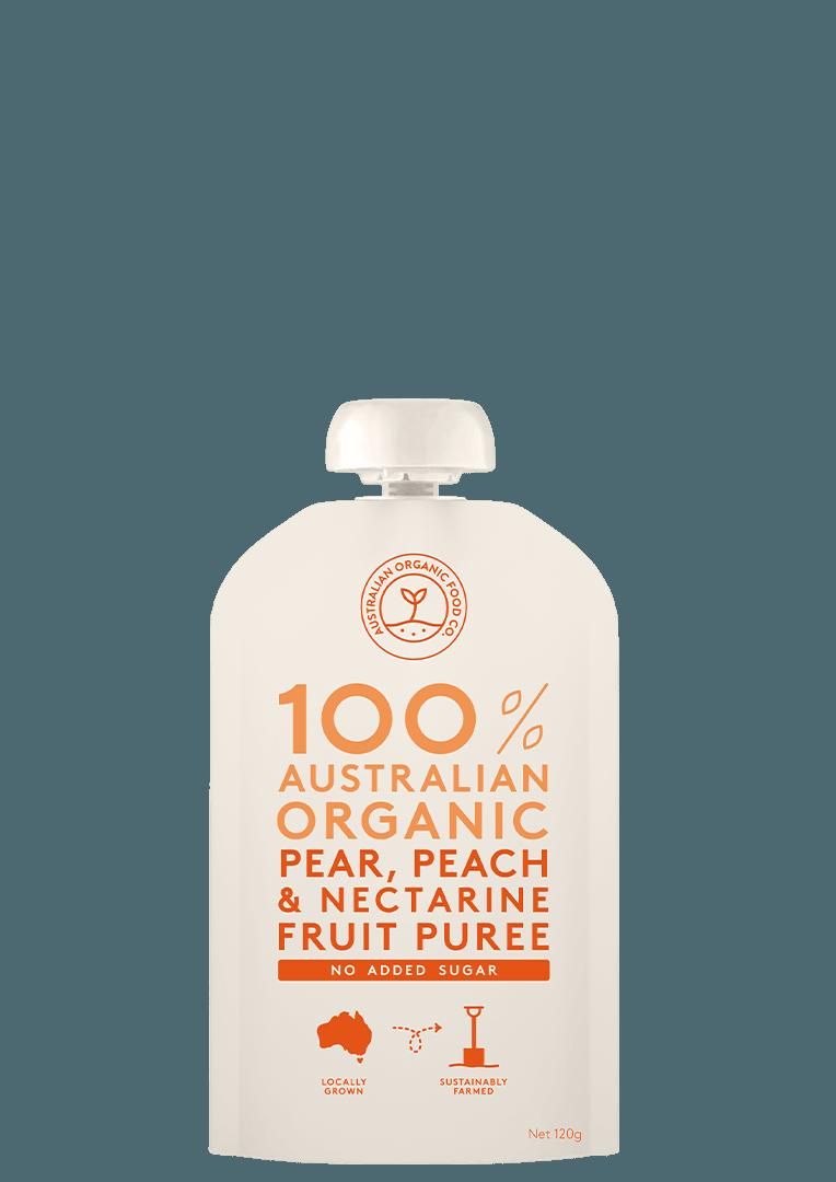 Pear, Peach & Nectarine Fruit Puree Package Image