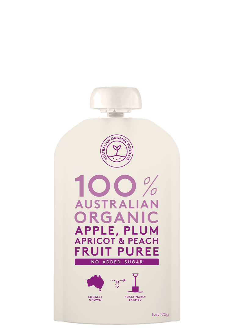 Apple, Plum, Apricot & Peach Fruit Puree Package Image