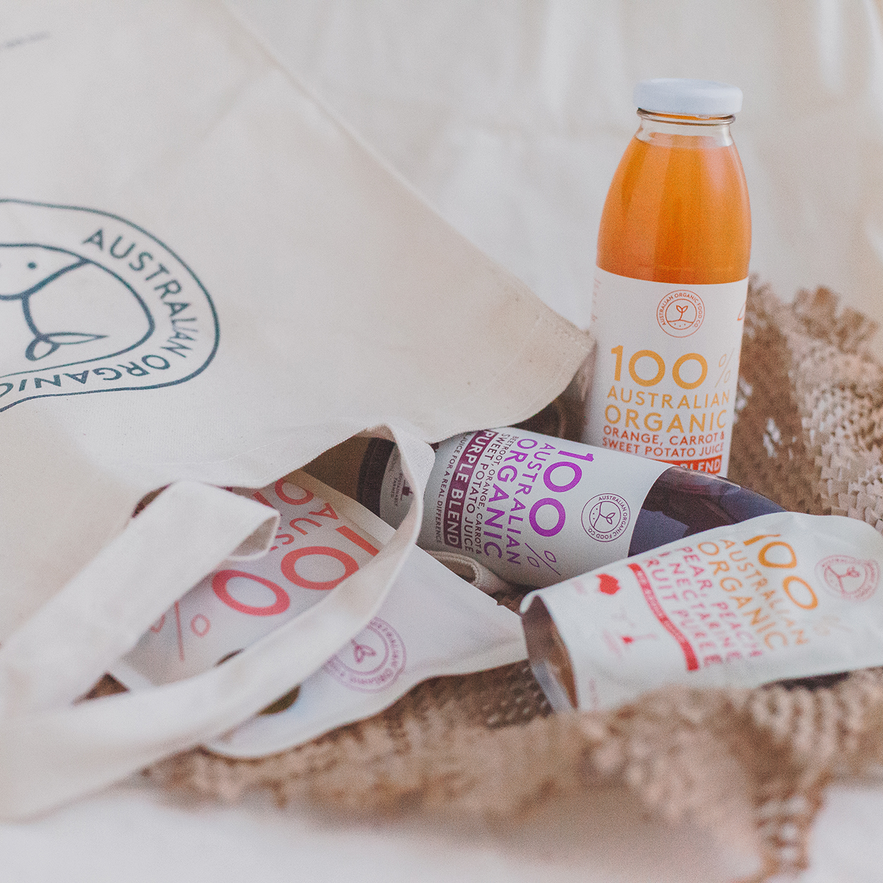 Australian Organic Food Co juice and puree
