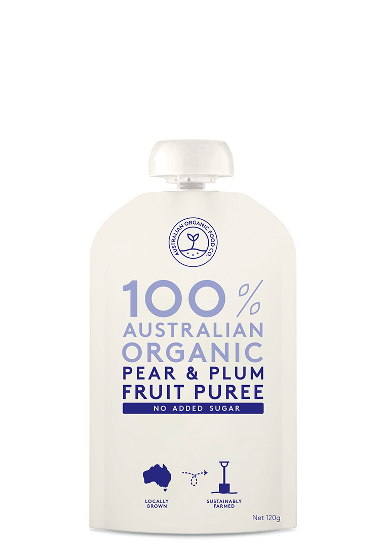 Pear & Plum Fruit Puree